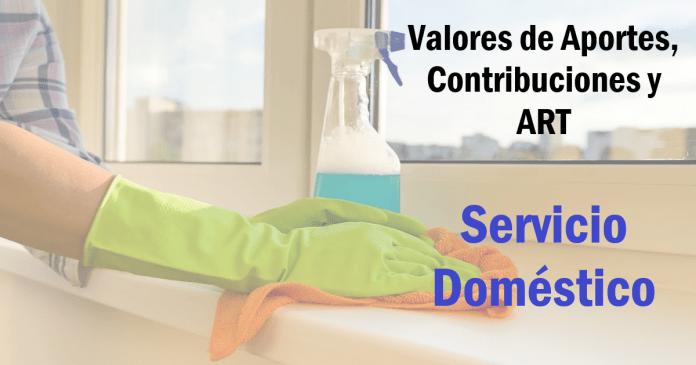 casas particulares, aportes contribuciones y art servicio domestico