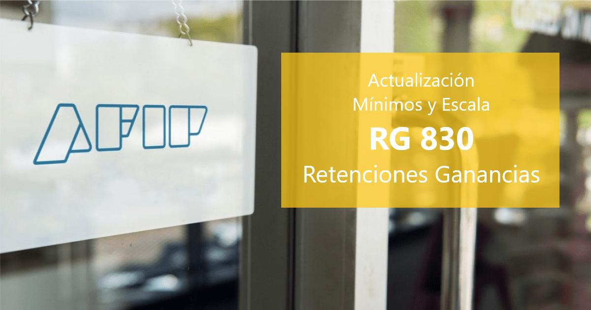 Montos no Sujetos a Retención de la RG 830, montos no sujetos a retencion de la rg 830