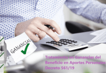 Beneficio Decreto 561/19 en Aportes