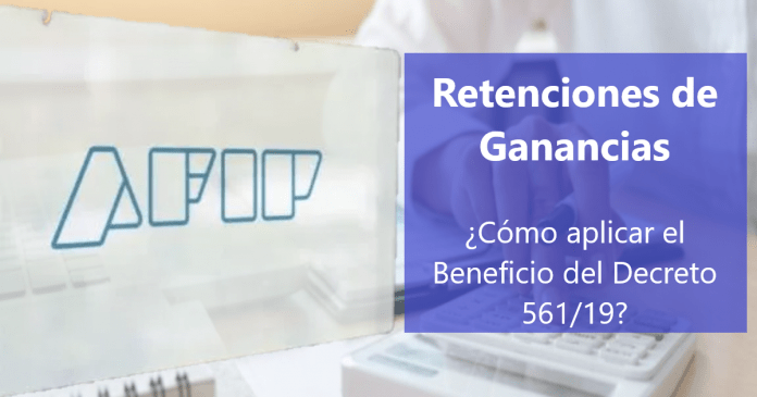 beneficio decreto 561 ganancias