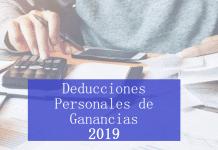 deducciones personales de ganancias 2019