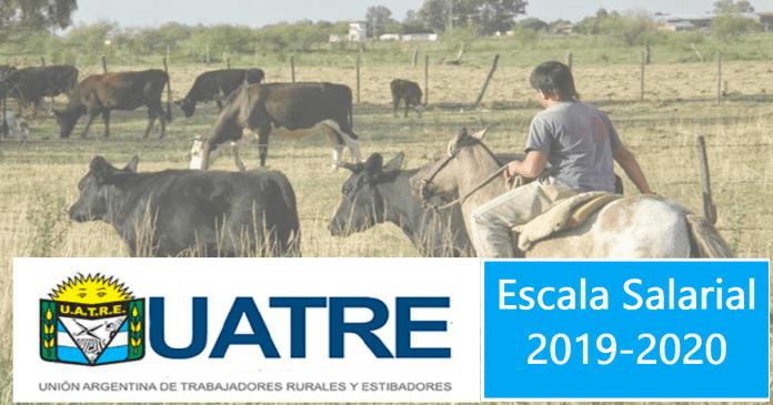 escala salarial de trabajadores rurales 2019-2020