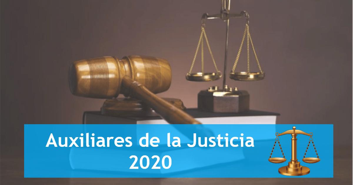 auxiliares de la justicia 2020