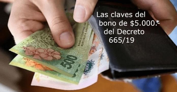 bono de $5000 decreto 665