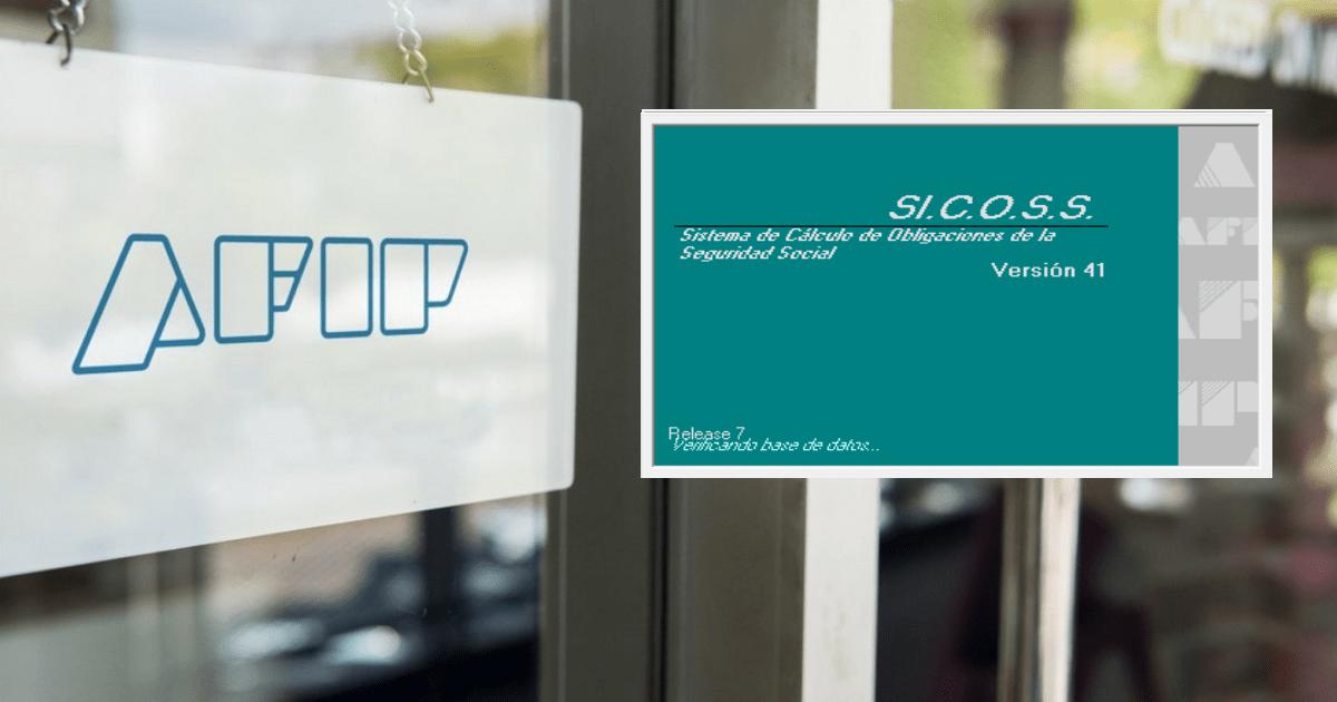 seguridad social sicoss, sicoss version 41 release 7