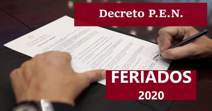 decreto feriados 2020