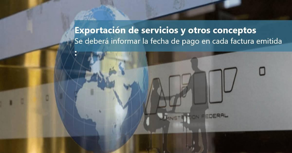 factura electronica exportacion de servicios