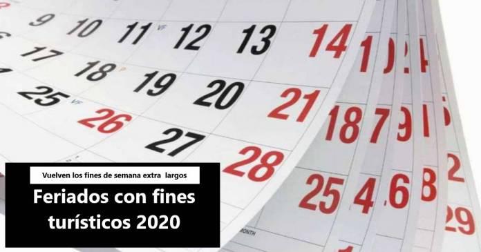 feriados con fines turisticos 2020
