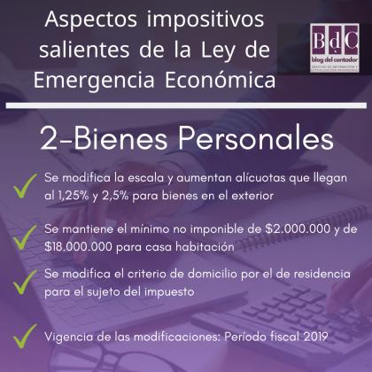 aspectos impositivos salientes ley emergencia