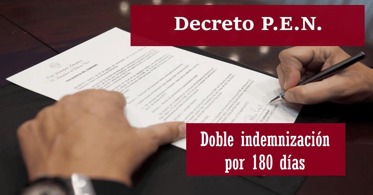 decreto 34 19 doble indemnizacion