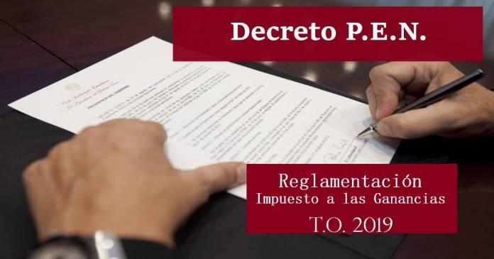 decreto reglamentacion ganancias texto ordenado 2019
