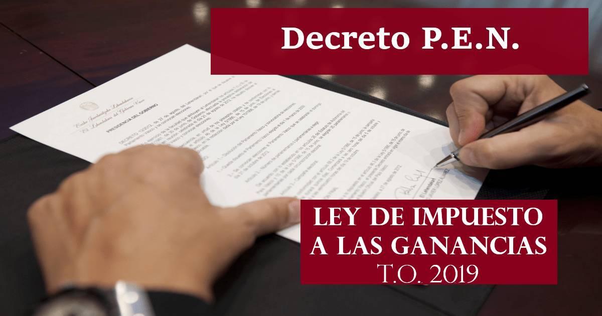 decreto texto ordenado ley impuesto a las ganancias