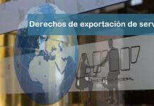 derechos de exportación de servicios