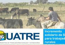 incremento solidario para trabajadores rurales