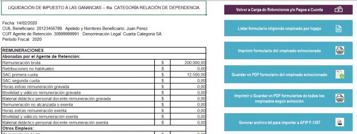 excel para generar 1357Planilla Excel para generar formulario 1357 Anuales 2019 (Descarga gratis hasta 50 empleados)