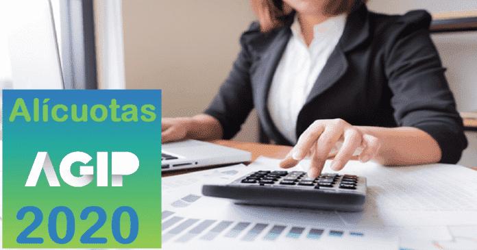 alicuotas ingresos brutos agip 2020
