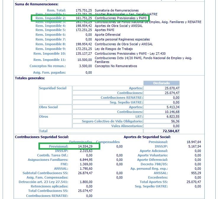 Nuevos beneficios en contribuciones, beneficios en contribuciones