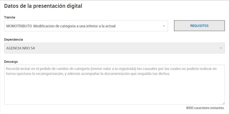 presentacion digital monotributo