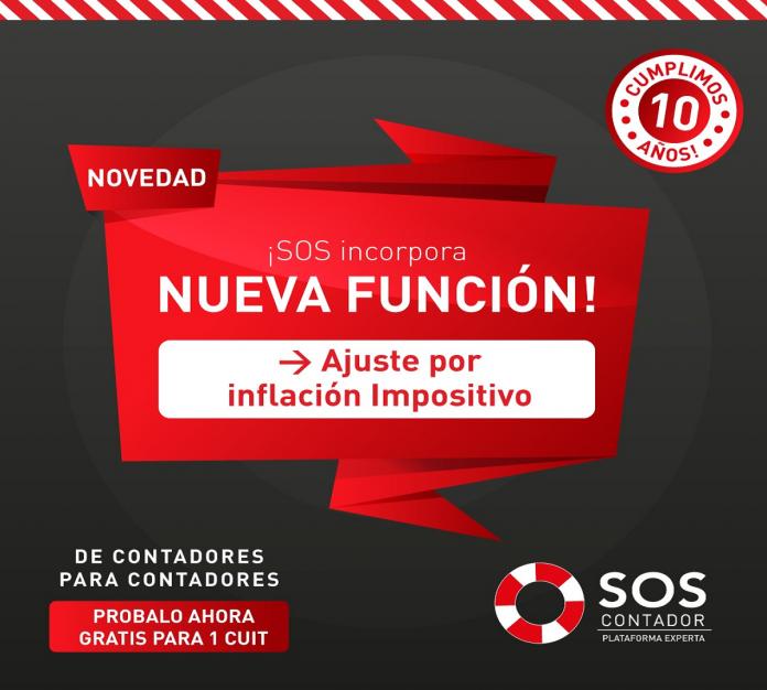 sos contadorSOS Contador te facilita el proceso de Ajuste por Inflación Impositivo