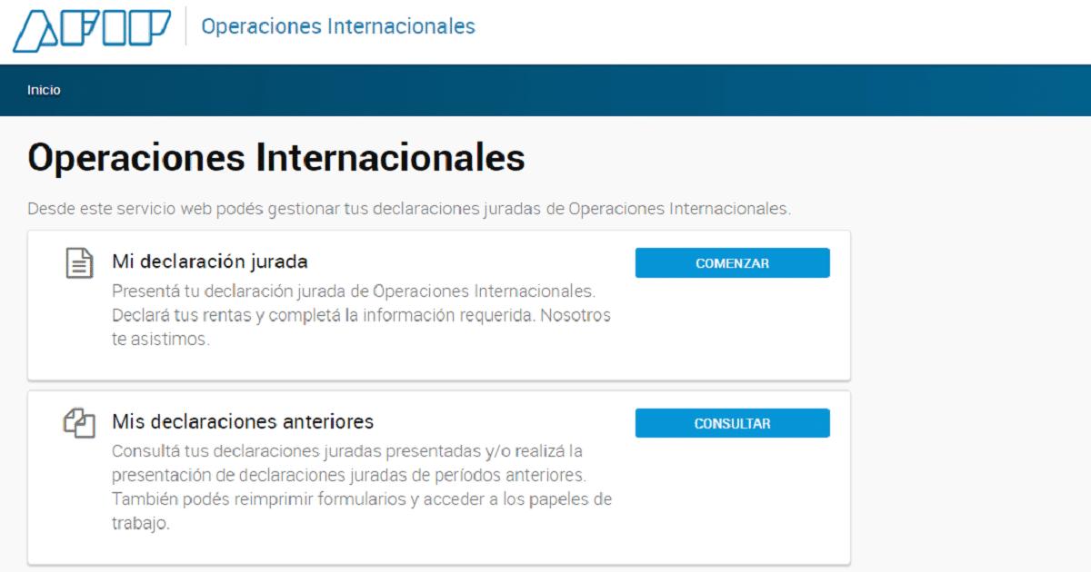 afip operaciones internacionales