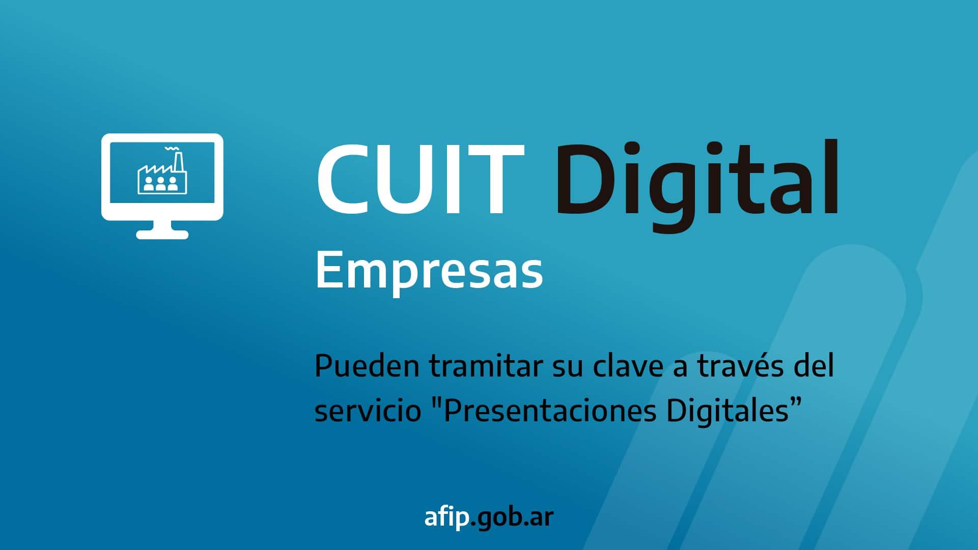 cuit digital empresas Obtención de CUIT en forma digital para personas jurídicas