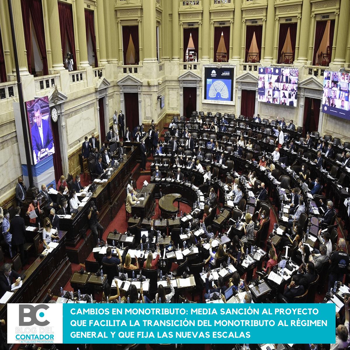 Cambios en monotributo_ media sanción al proyecto que facilita la transición del monotributo al régimen general y que fija las nuevas escalas