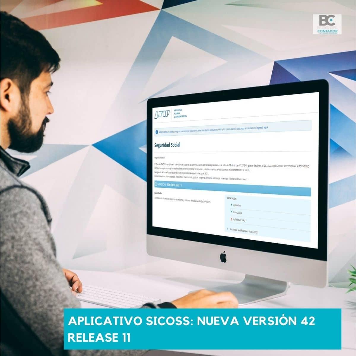 Aplicativo SICOSS_ nueva versión 42 release 11
