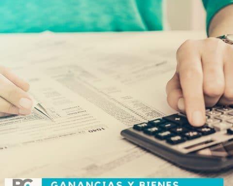 GANANCIAS Y BIENES PERSONALES 2020