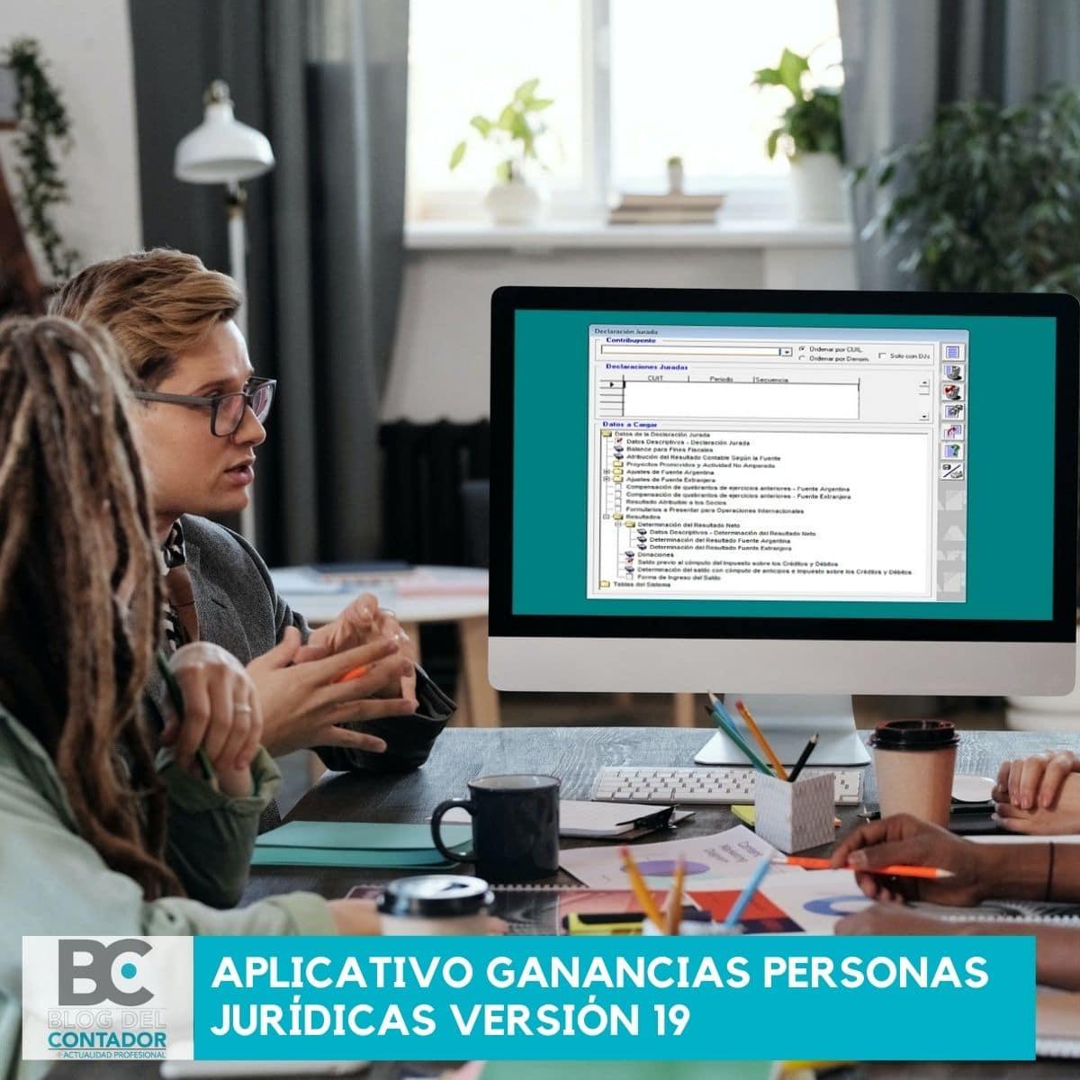 aplicativo Ganancias Personas Jurídicas versión 19