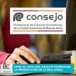CM05 el CPCECABA solicitó prorrogar la presentación de la DDJJ anual