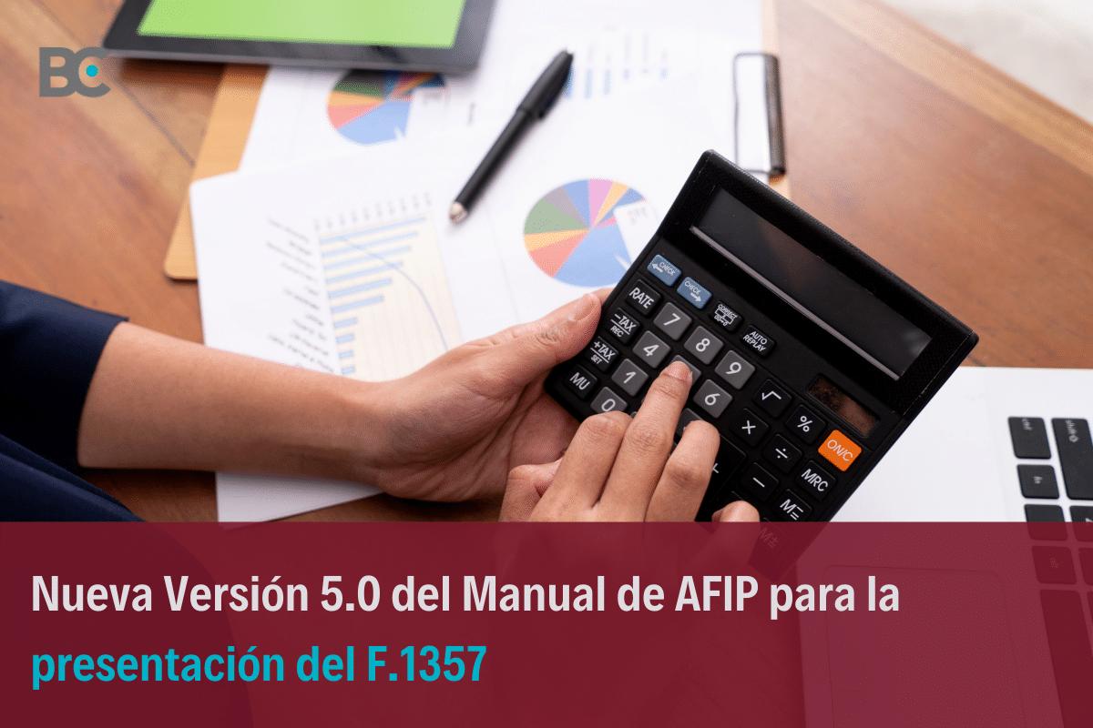 Manual para la presentación del F.1357